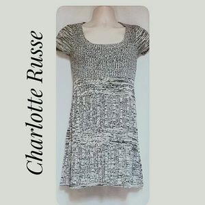 Charlotte Russe Sweater Dress Brown Cream Size S